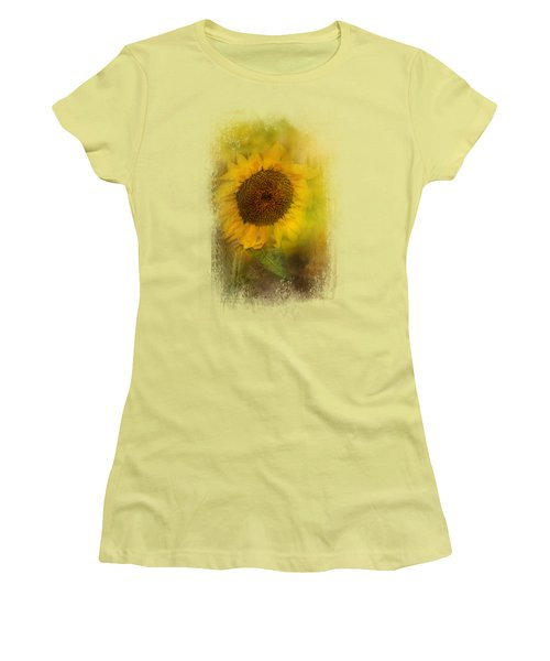The Happiest Flower Women's T-Shirt (Junior Cut) by Jai Johnson