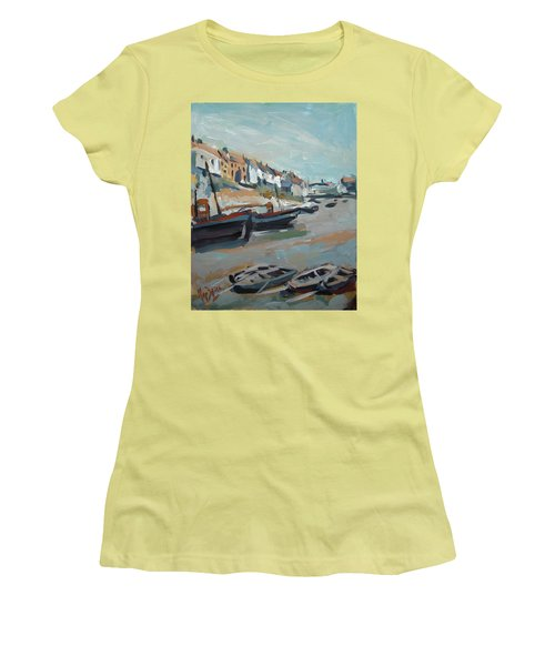 The Harbour Of Mevagissey Women's T-Shirt (Athletic Fit)