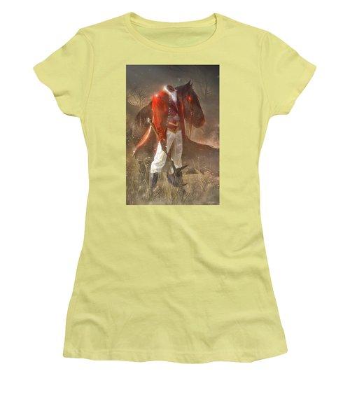 The Headless Horseman Women's T-Shirt (Junior Cut) by Sheila Mcdonald