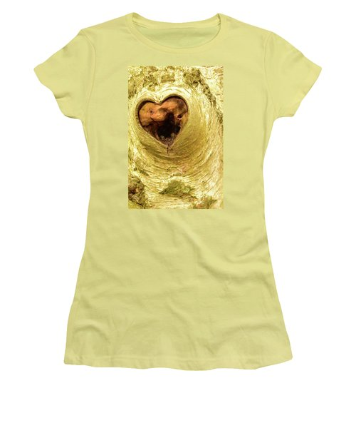The Heart Of The Tree Women's T-Shirt (Athletic Fit)