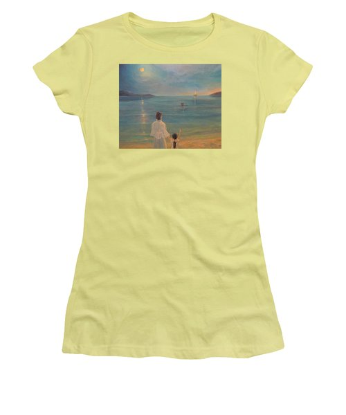 Women's T-Shirt (Junior Cut) featuring the painting The Homecoming by Donna Tucker