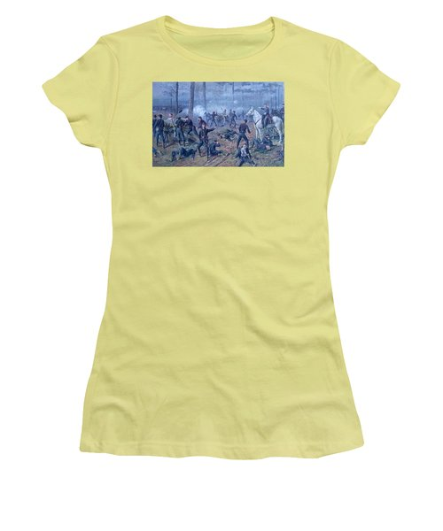 Women's T-Shirt (Junior Cut) featuring the painting The Hornets' Nest by Thomas Corwin Lindsay