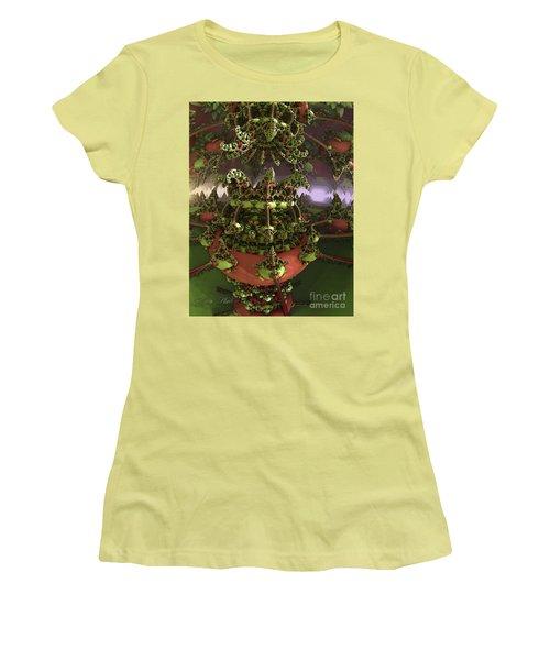 The Jokers Machine Women's T-Shirt (Junior Cut) by Melissa Messick