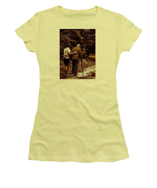 Women's T-Shirt (Junior Cut) featuring the photograph The Journey by Michael Nowotny