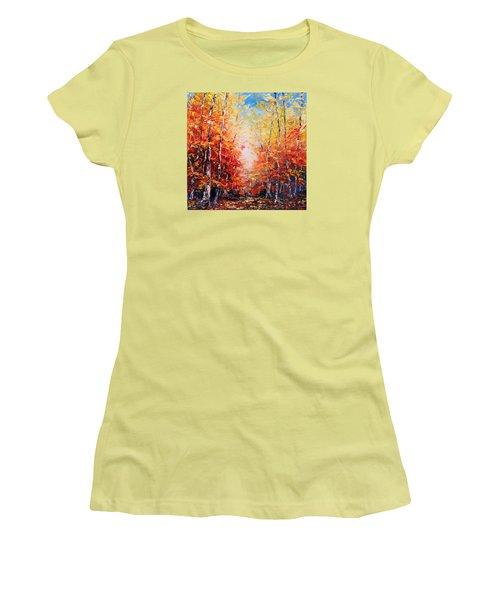 The Joy Ahead Women's T-Shirt (Junior Cut) by Meaghan Troup