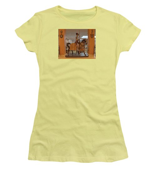 Women's T-Shirt (Junior Cut) featuring the photograph The Knight On Horseback by Mark Dodd