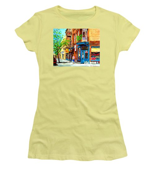 Women's T-Shirt (Junior Cut) featuring the painting The Lady In Pink by Carole Spandau