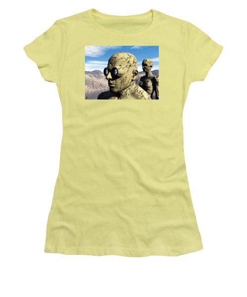 The Last Elementals Awaiting Their Doom Women's T-Shirt (Junior Cut) by John Alexander