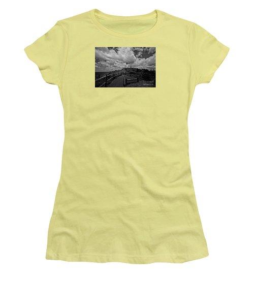Women's T-Shirt (Junior Cut) featuring the photograph The Light House by Gary Bridger