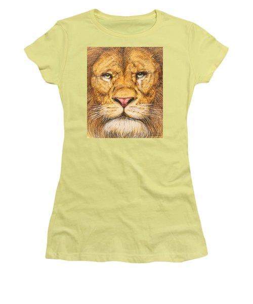 The Lion Roar Of Freedom Women's T-Shirt (Junior Cut) by Kent Chua