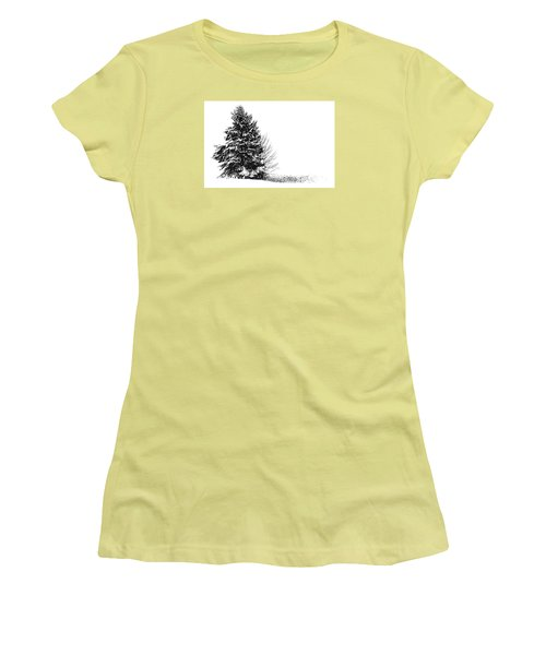 The Lone Pine Women's T-Shirt (Junior Cut) by Jim Rossol