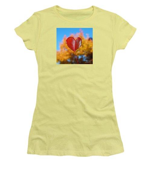 The Love Of Fall Women's T-Shirt (Junior Cut) by Debra Thompson