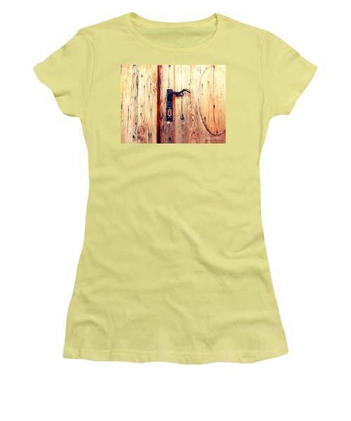 The Lovely Door Handle Women's T-Shirt (Athletic Fit)