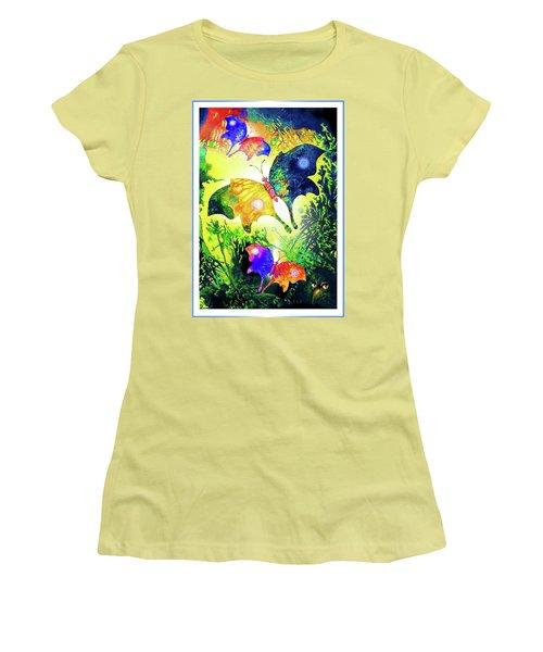 The Magic Of Butterflies Women's T-Shirt (Junior Cut) by Hartmut Jager