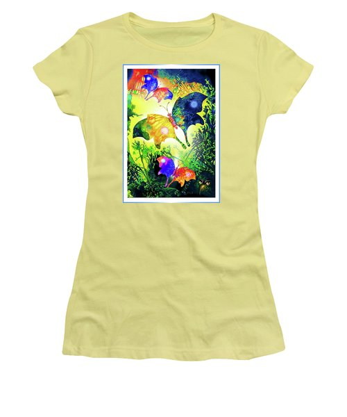 The Magic Of Butterflies Women's T-Shirt (Athletic Fit)