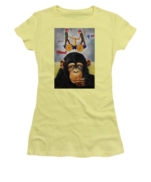 The Magnificent Flying Strauss Women's T-Shirt (Athletic Fit)