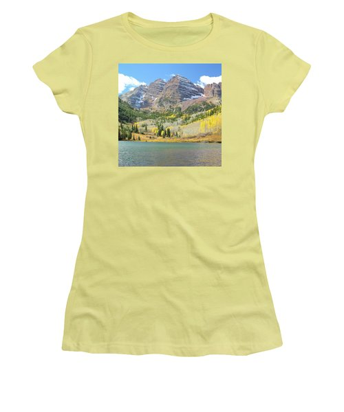The Maroon Bells 2 Women's T-Shirt (Junior Cut) by Eric Glaser
