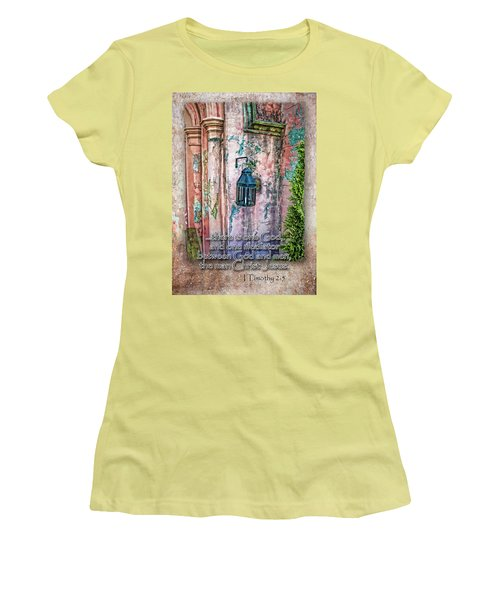 The Mediator Women's T-Shirt (Junior Cut) by Larry Bishop