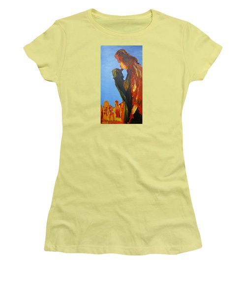 The Melting Women's T-Shirt (Junior Cut) by Geeta Biswas