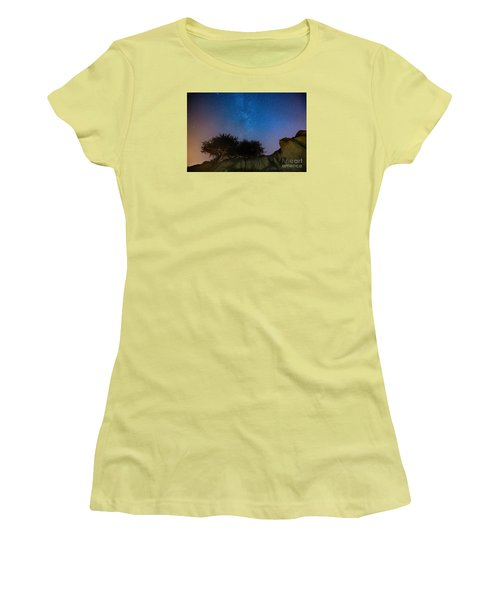 The Milky Way Above Shell Beach Women's T-Shirt (Athletic Fit)
