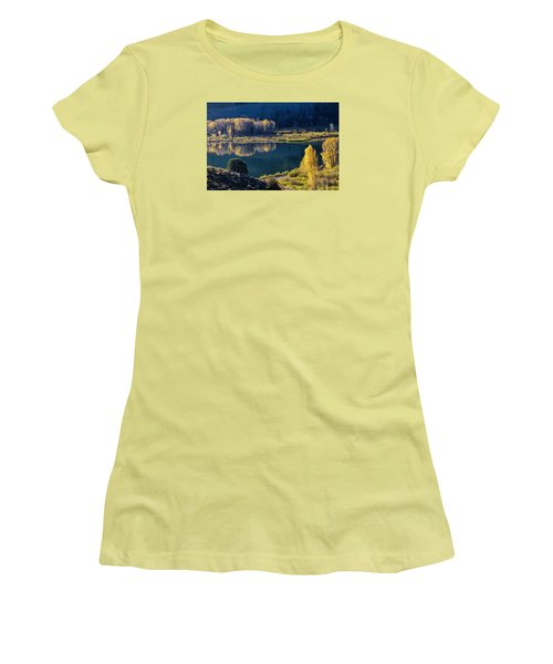 The Mirror In Her Hand Women's T-Shirt (Junior Cut) by Alana Thrower