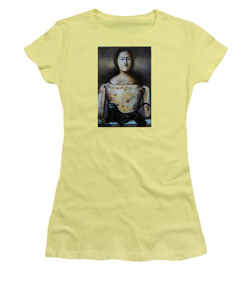 The Monkey And The Mannequin Women's T-Shirt (Junior Cut) by Jean Cormier