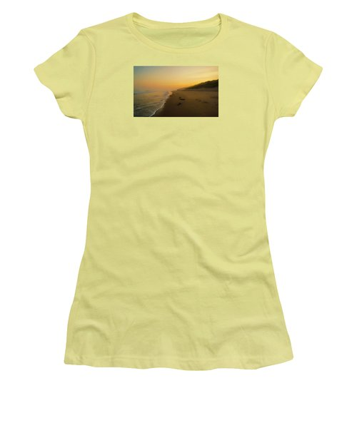 Women's T-Shirt (Junior Cut) featuring the photograph The Morning Walk by Roy McPeak