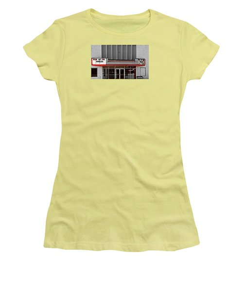Women's T-Shirt (Junior Cut) featuring the photograph The Movie Theater by Bob Pardue