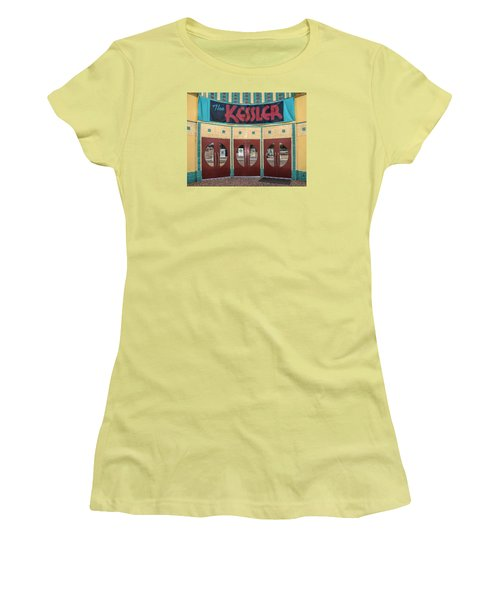 The Movie Theater Women's T-Shirt (Junior Cut) by David and Carol Kelly
