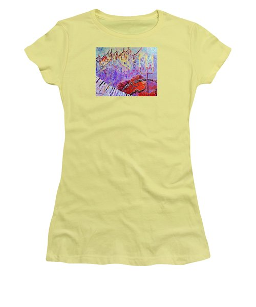 The Music Of The Silence Women's T-Shirt (Athletic Fit)