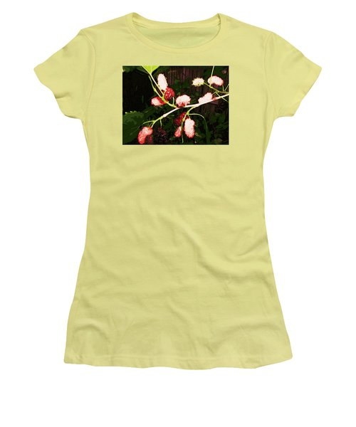 Women's T-Shirt (Athletic Fit) featuring the digital art The New Mulberries by Winsome Gunning