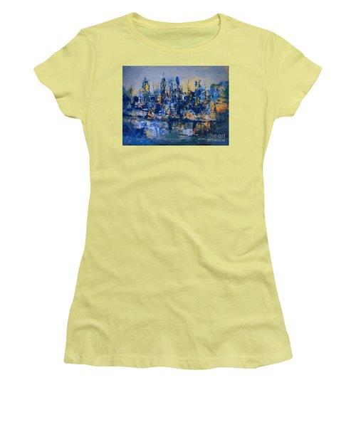 The Night City Women's T-Shirt (Junior Cut) by Nancy Kane Chapman