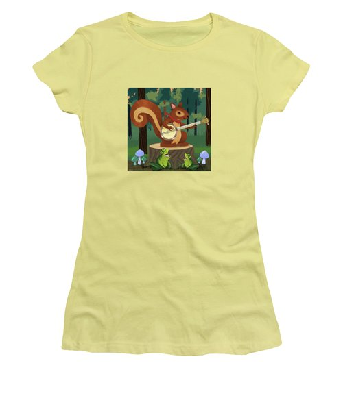 The Nutport Croak Music Festival Women's T-Shirt (Junior Cut) by Little Bunny Sunshine