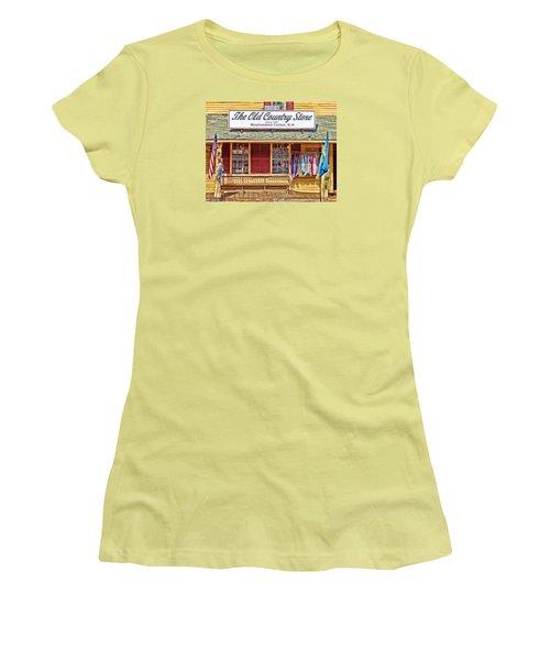 The Old Country Store, Moultonborough Women's T-Shirt (Junior Cut) by Nancy De Flon