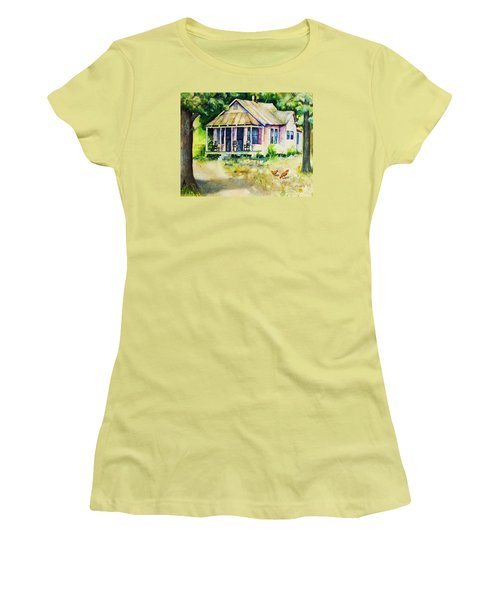 The Old Place Women's T-Shirt (Junior Cut) by Rebecca Korpita