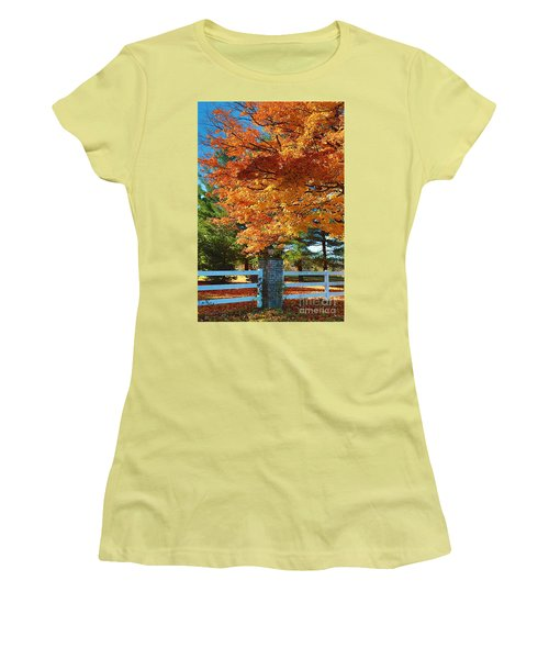 Women's T-Shirt (Junior Cut) featuring the photograph The Old Yard Light by Robert Pearson