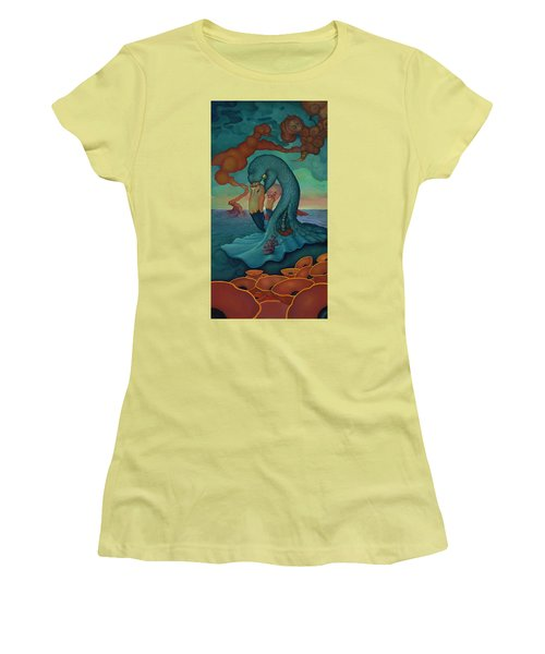 Women's T-Shirt (Junior Cut) featuring the painting The Only Thing That Will Have Mattered by Andrew Batcheller