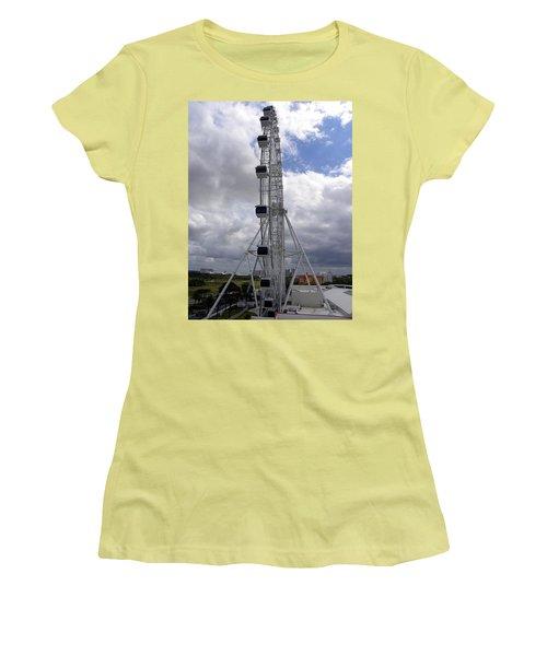Women's T-Shirt (Junior Cut) featuring the photograph The Orlando Eye 001 by Chris Mercer