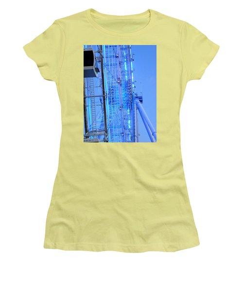 Women's T-Shirt (Junior Cut) featuring the photograph The Orlando Eye 002 by Chris Mercer