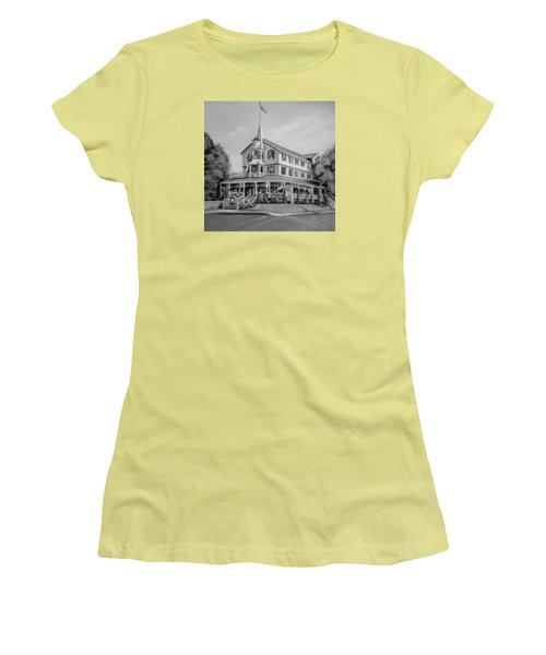 The Parker House Black And White Women's T-Shirt (Junior Cut) by Melinda Saminski