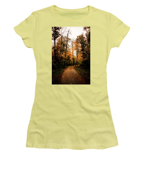 The Path Women's T-Shirt (Junior Cut) by Annette Berglund