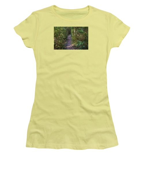 The Path Of Life Women's T-Shirt (Junior Cut) by Kenneth Albin