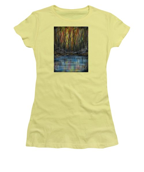 The River Side Women's T-Shirt (Junior Cut) by Darren Cannell