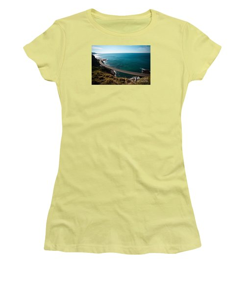 The Road Above The Sea Women's T-Shirt (Athletic Fit)