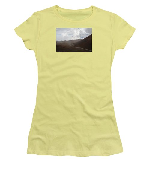 Women's T-Shirt (Junior Cut) featuring the photograph The Road To The Snow Goddess by Ryan Manuel