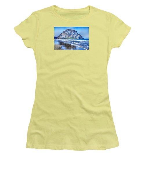 The Rock At Morro Bay Large Canvas Art, Canvas Print, Large Art, Large Wall Decor, Home Decor, Photo Women's T-Shirt (Junior Cut) by David Millenheft