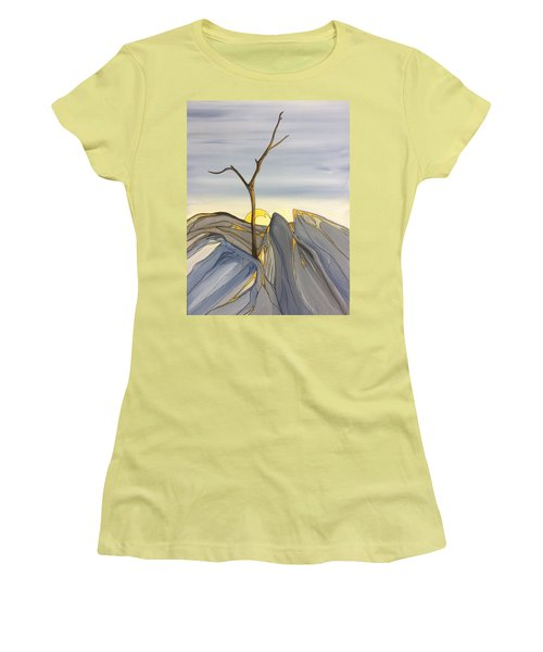 Women's T-Shirt (Junior Cut) featuring the painting The Rock Garden by Pat Purdy
