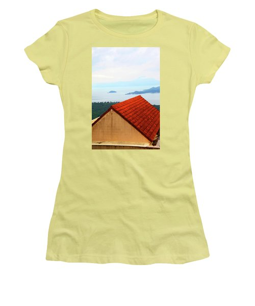 The Roof Be Told Women's T-Shirt (Junior Cut) by Jez C Self