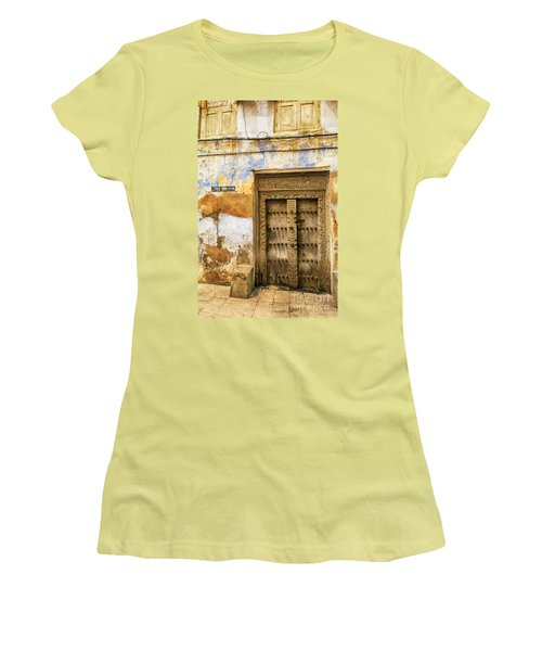 The Rustic Door Women's T-Shirt (Junior Cut) by Amyn Nasser