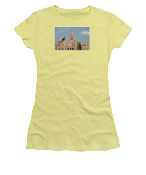 Women's T-Shirt (Junior Cut) featuring the photograph The School On The Hill by Mark Dodd